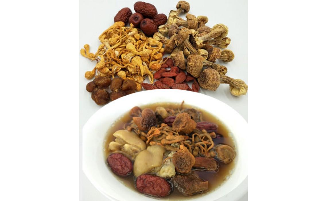 Cordyceps & mushroom soup