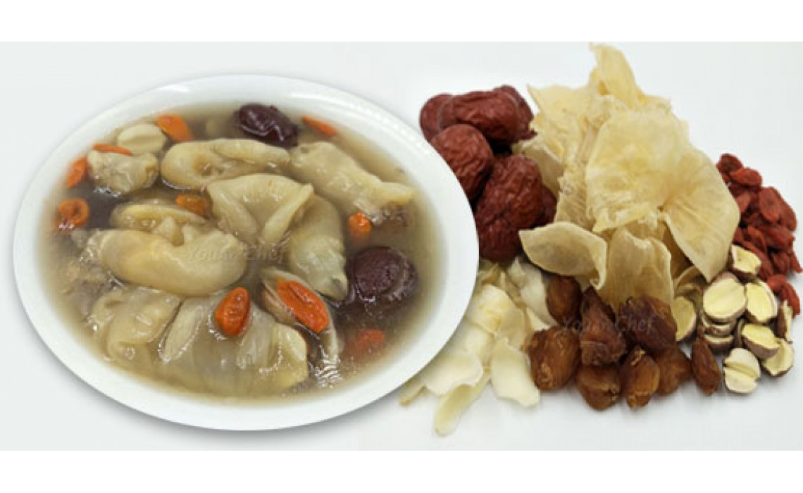 DRIED FISH MAW, LONGAN REPLENISHMENT SOUP